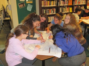 Aldershot High School students working on their map activity