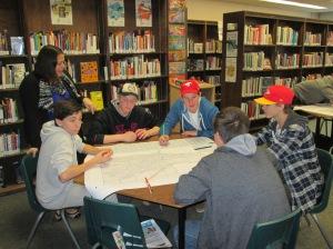 Aldershot High School students working on group activity