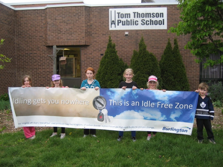 Idling awareness campaign at Tom Thomson School