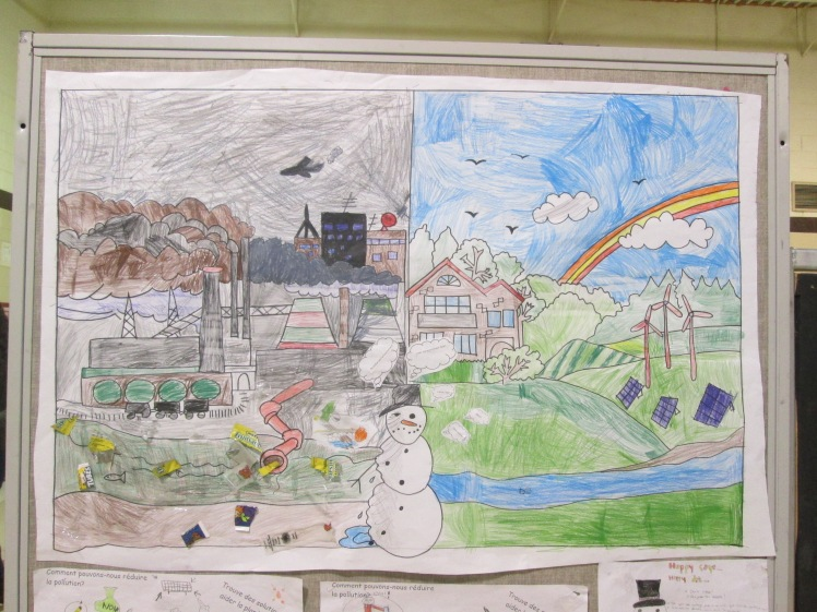 Artwork on display at Eco Night