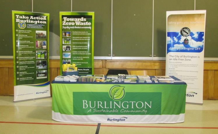 City of Burlington environmental display