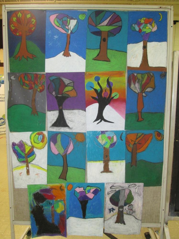 Art work on display on Eco Night.