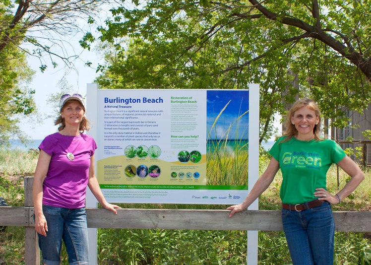 Burlington Beach interpretative sign