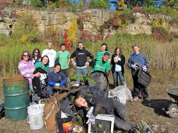 BurlingtonGreen youth at a clean-up event.