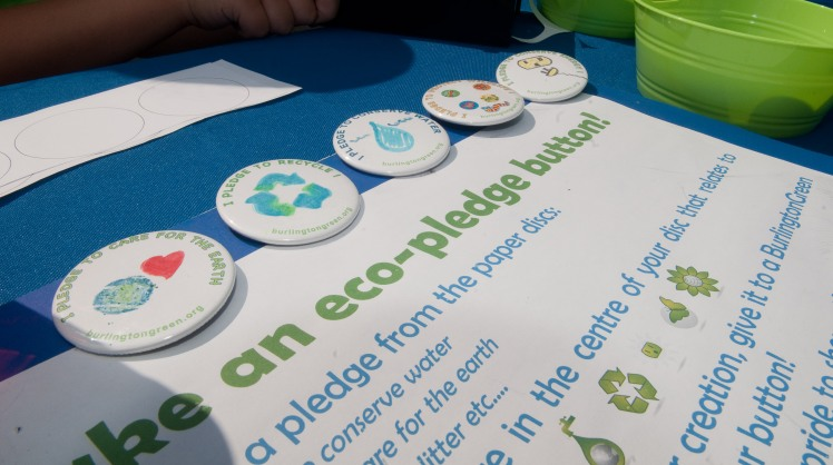 Eco-Pledge button-making activity