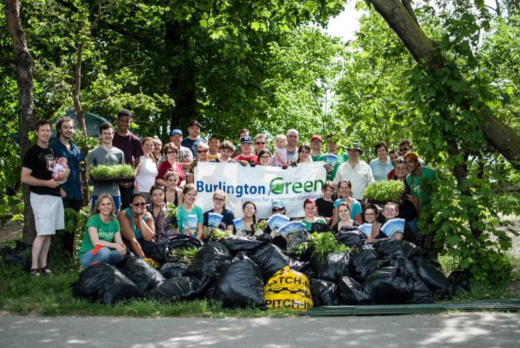 A group photo taken after a successful Green Up event