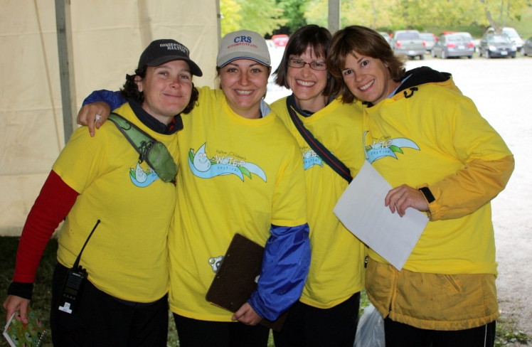 A few of the many volunteers required to run the Halton Children's Water Festival.