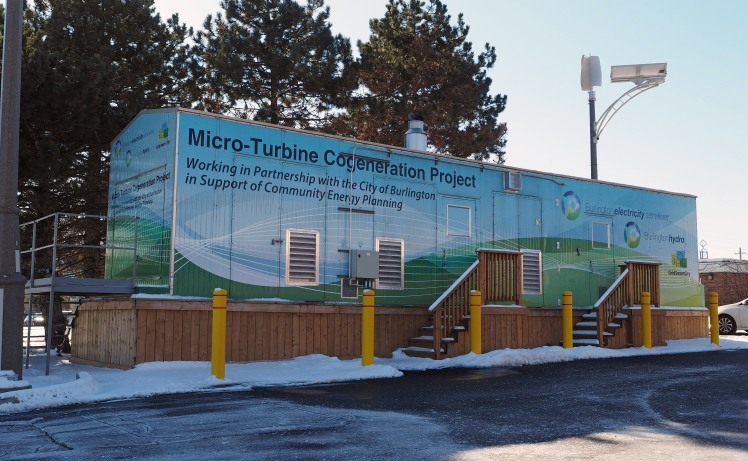 The Micro Turbine Cogeneration Plant at Burlington Hydro's head office.
