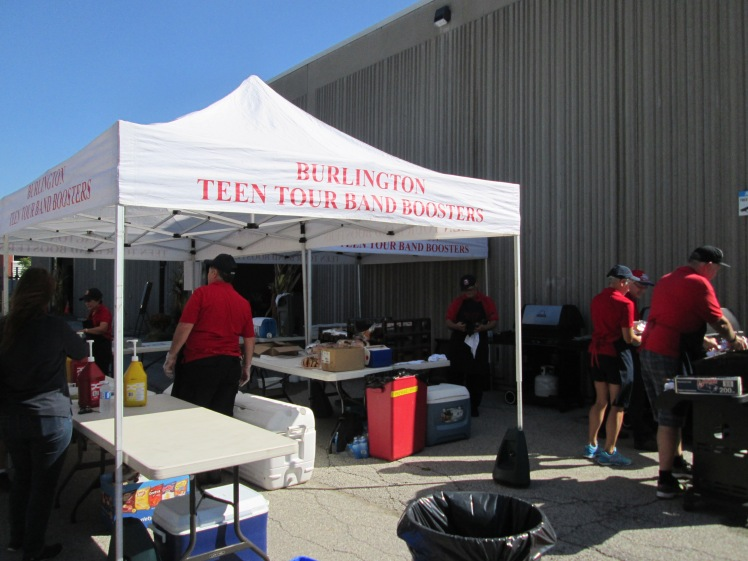 Burlington Teen Tour Band Boosters charity BBQ.