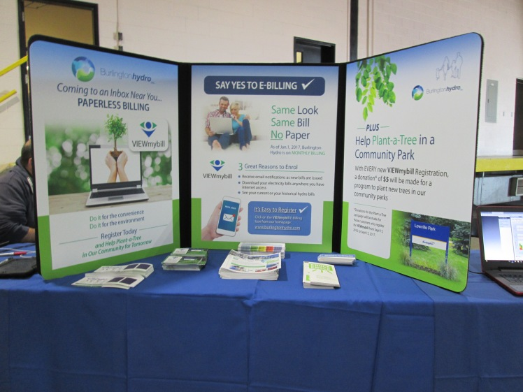 E-billing display by Burlington Hydro.
