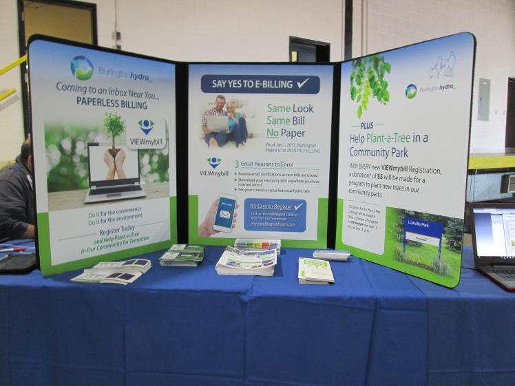 E-billing display by Burlington Hydro.