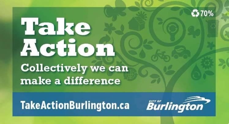Take Action Burlington promotional magnet