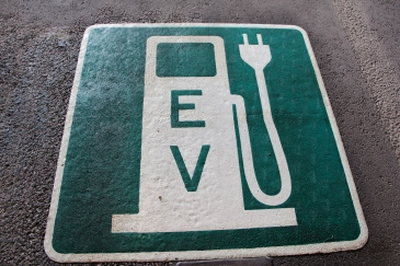 EV marking at Burlington parking garage