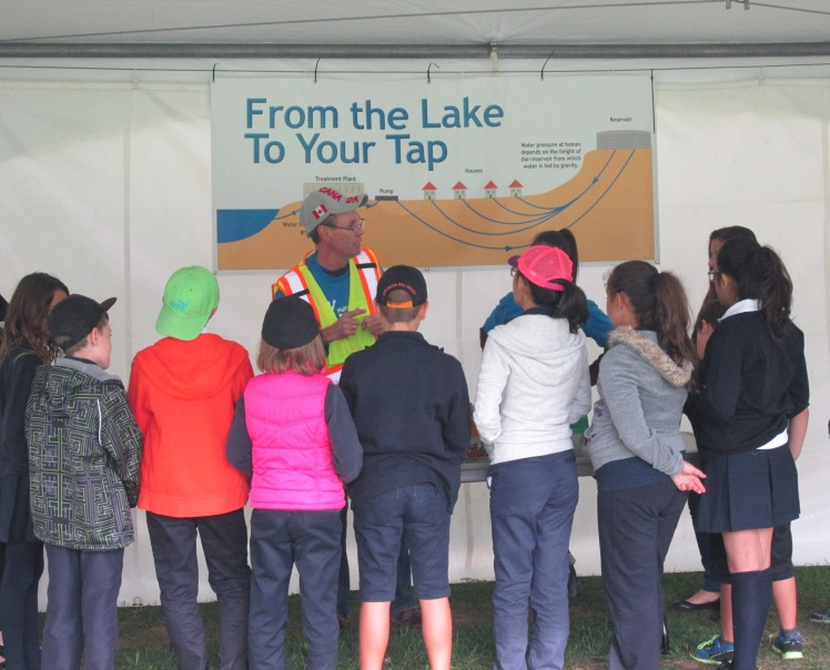 From the lake to your tap activity at Halton Children's Water Festival