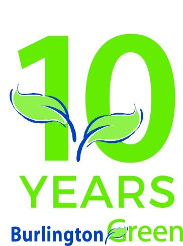 BurlingtonGreen's 10th anniversary logo