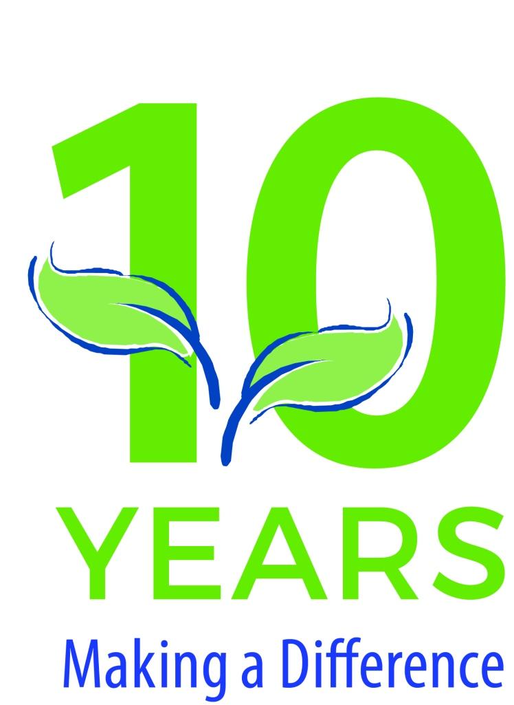 BurlingtonGreen's 10th anniversary logo.