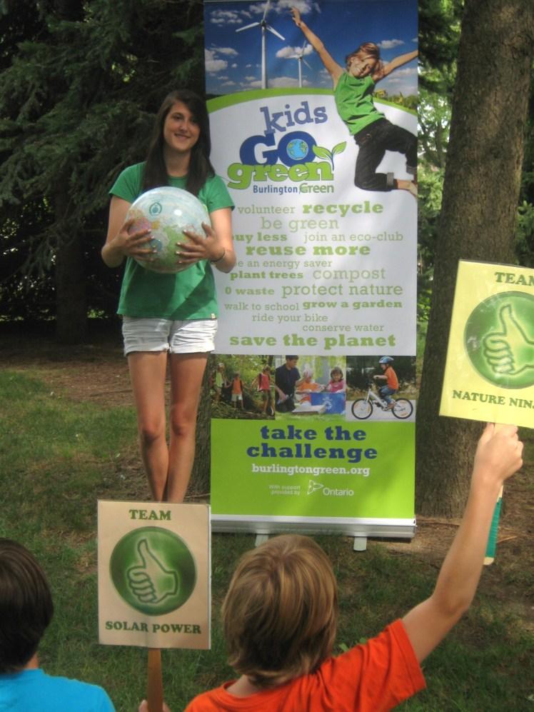 Kids Go Green demonstration