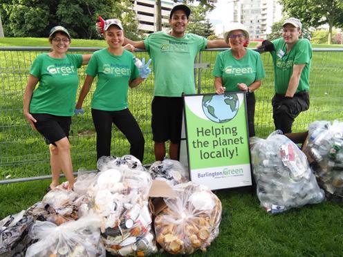 BurlingtonGreen volunteers greening a local event.
