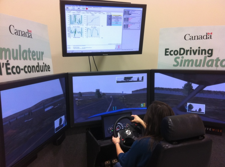 Test your driving with an EcoDriving Simulator. Image courtesy of Drivewise.
