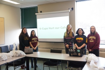 MM Robinson students make K-Cup Presentation at Halton District School Board office