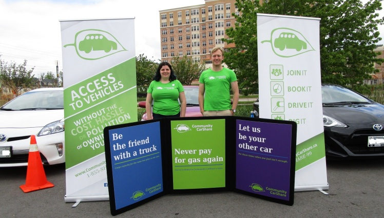 Community CarShare's display