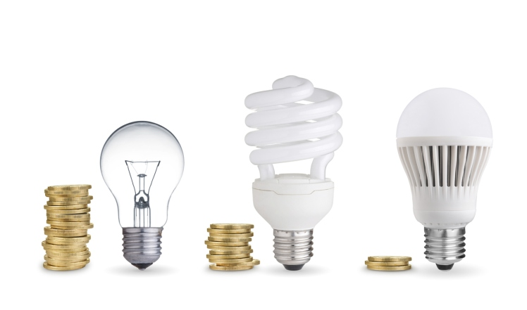 Energy costs associated with lighting.