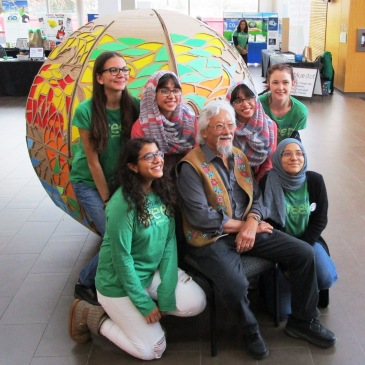 David Suzuki with BurlingtonGreen youth volunteers.