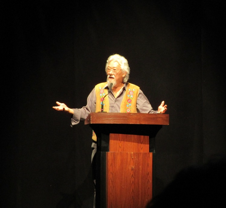 Dr. David Suzuki at the Connect the Dots event in Burlington, ON