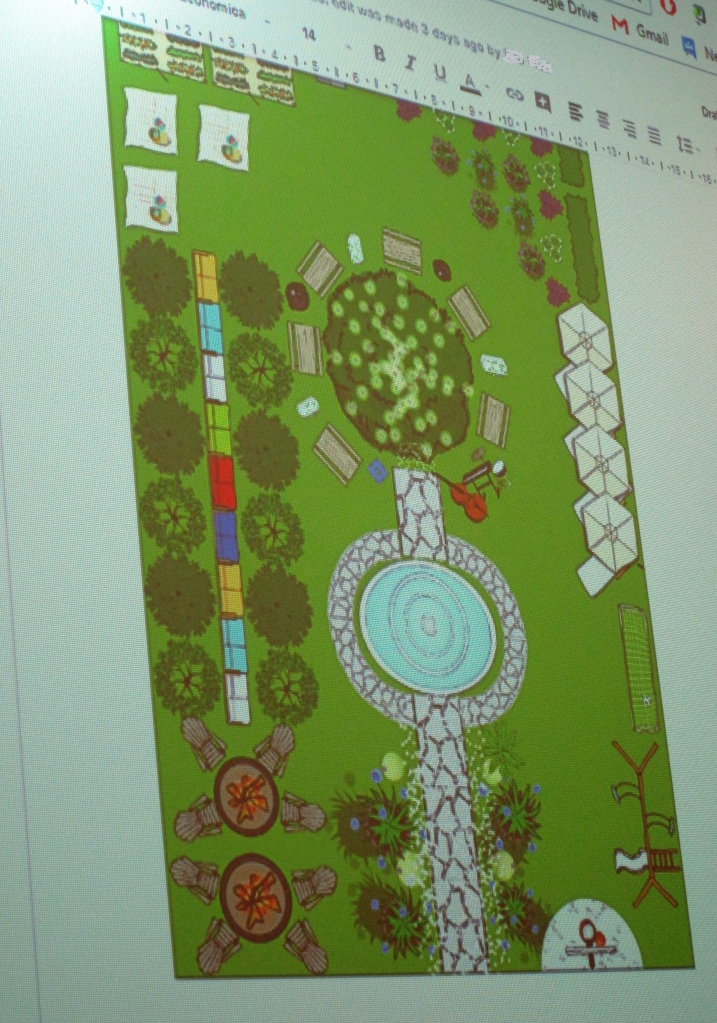 A suggested design for a section of Spencer Smith Park.