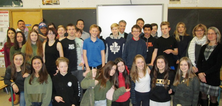 Students in Mr. Papadopoulos' Grade 9 class.
