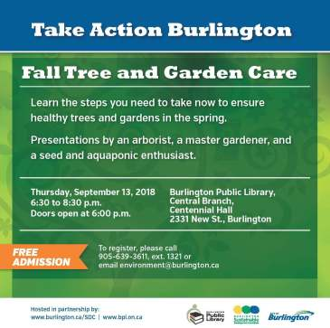 Fall Tree and Garden Care Event promotion