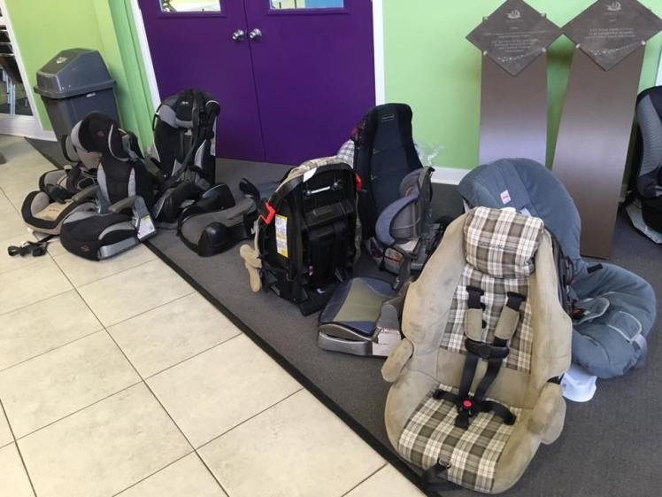 car seats dropped off