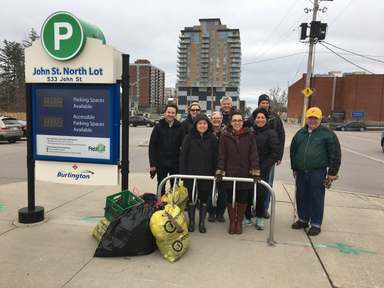 Burlington Sustainable Development Committee members participate in the 2019 community clean-up event.
