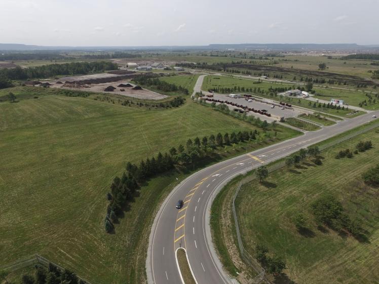Aerial image of Halton Region Waste Management Site