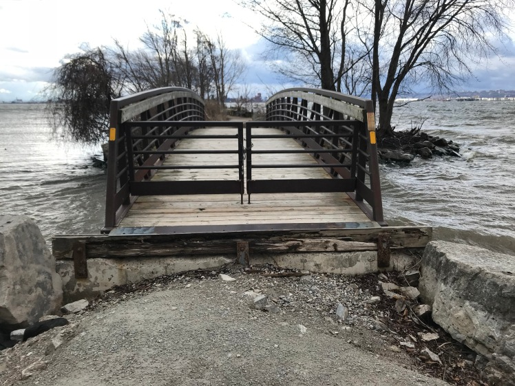 Damage after the high Lake Ontario water levels in 2017.