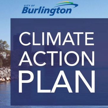 Burlington Climate Action Plan cover page design