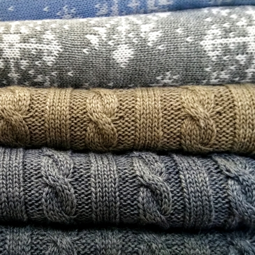 image of sweaters folded in a pile