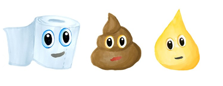 Toilet paper, poop and pee images.