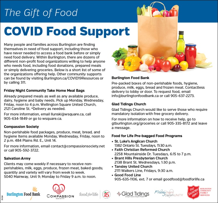 COVID Food support ad