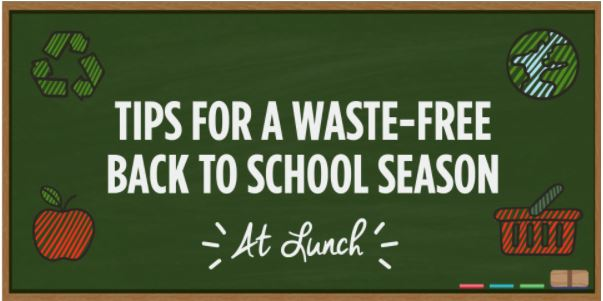 Poster regarding tips for a waste-free school season