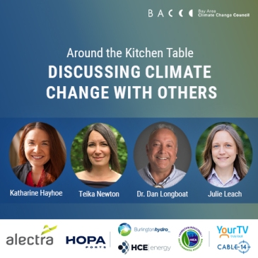 Promotional poster for Around the Kitchen Table: Discussing Climate Change with Others event