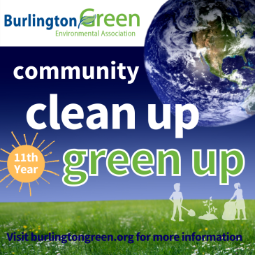 Promotional poster promoting community clean up green up
